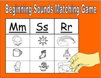 Beginning Sound Matching Game