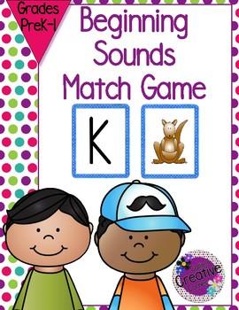 Beginning Sounds - Matching Game