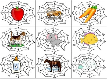Beginning Sound Matching Spiders to Web Daily 5 Word Work Literacy