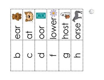 Beginning Sound Matching Strips Set 2