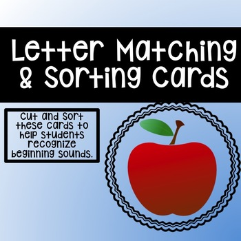 Beginning Sound Matching and Sorting