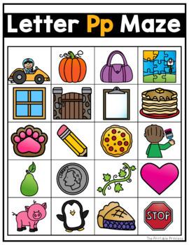 Beginning Sound Mazes {Activities to Teach Letter Sounds}