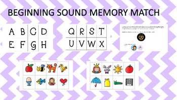Beginning Sound Memory Match/Concentration