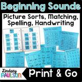Beginning Sound No Prep Bundle