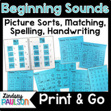 Beginning Sound No Prep Bundle