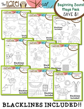Beginning Sound Phonics Clip Art MEGA Pack {Save $8 by Purchasing 9 Sets in 1!}