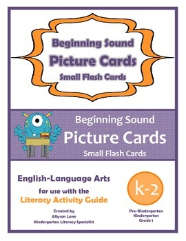 Beginning Sounds Picture Cards- Small Flash Cards FREEBIE