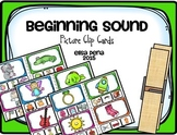 Beginning Sound Picture Clip Cards
