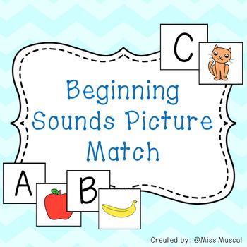 Beginning Sound Picture Match - Phonics Development Activities
