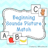 Beginning Sound Picture Match - Phonics Development Activities