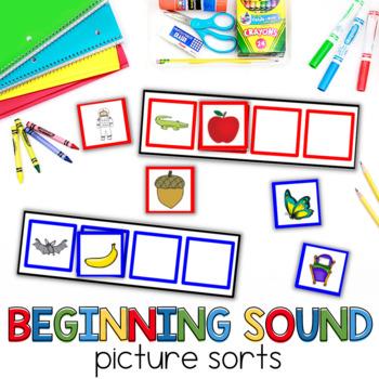 Beginning Sound Picture Sorts for kindergarten