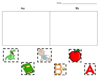 Beginning Sound Picture Sort - Aa & Bb