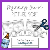 Beginning Sound Picture Sort (Cut & Paste)
