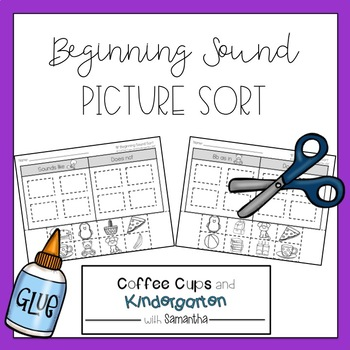 Beginning Sound Picture Sort (Cut & Paste)