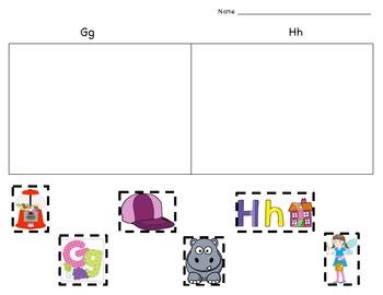 Beginning Sound Picture Sort - Gg & Hh