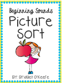 Beginning Sound Picture Sort- With and Without Words