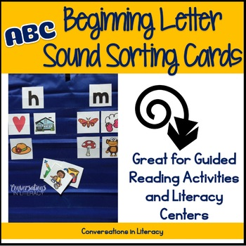 Beginning Sounds Picture Sorting Cards for Guided Reading & Literacy Centers