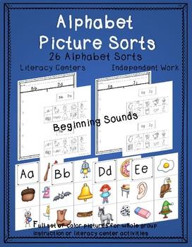 Beginning Sound Picture Sorts - Alphabet