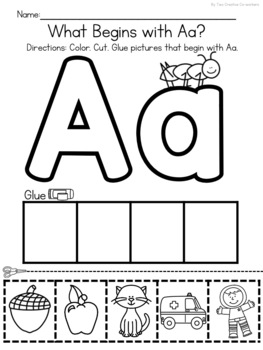 Beginning Sound Picture Sorts Cut And Glue Worksheets