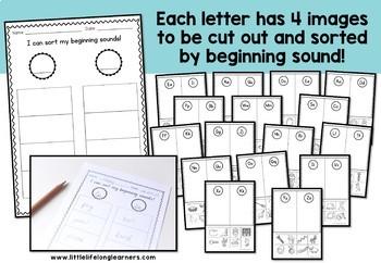 Beginning Sound Sort - Australian Fonts included!