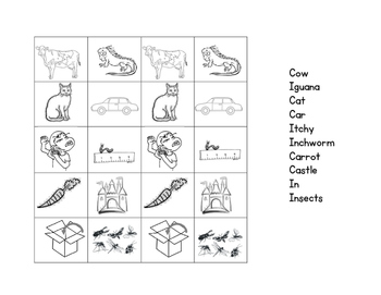 Beginning Sound Picture Sorts in Reading Street Order