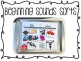 Alphabet Mats for Beginning Sounds Sorts