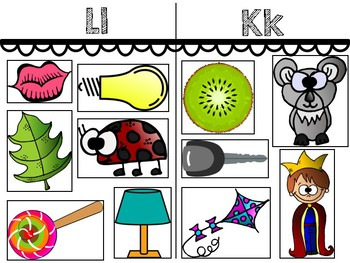 Alphabet Mats for Beginning Sounds Sorts