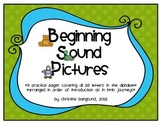 Beginning Sound Pictures Worksheets (In order as in HMH Journeys)