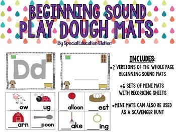 Beginning Sound Play Dough Activity Mats