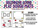 Beginning Sound Play Dough Activity Mats