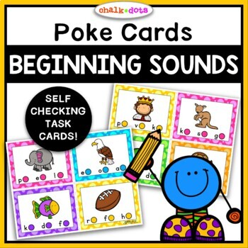 Beginning Sound Poke Cards