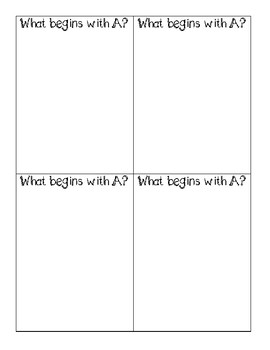 Beginning Sound Posters and Exit Tickets