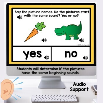 Beginning Sound Practice Digital Task Cards Boom
