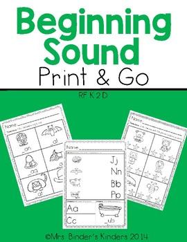 Beginning Sound ~ Print and Go