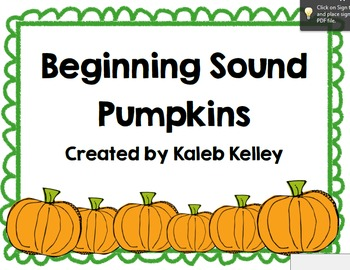Beginning Sound Pumpkins
