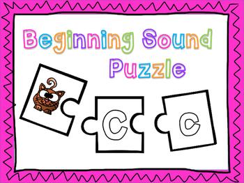 Beginning Sound Puzzle