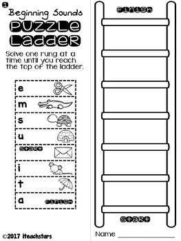 Beginning Sound Puzzle Ladders