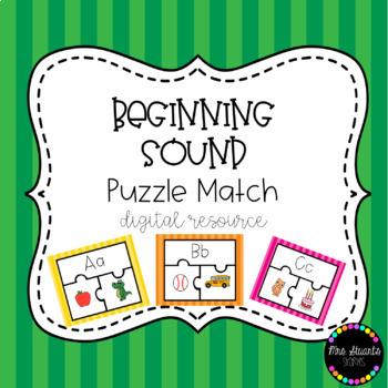 Beginning Sound Puzzle Match Digital Resource