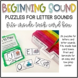 Beginning Sound Puzzle Task Cards