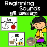 Beginning Sound Puzzles for Kindergarten Literacy Centers
