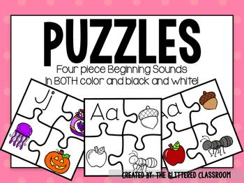 Beginning Sound Puzzles (4 Pieces)