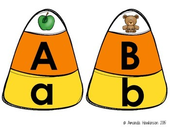 Beginning Sound Puzzles Candy Corn Themed