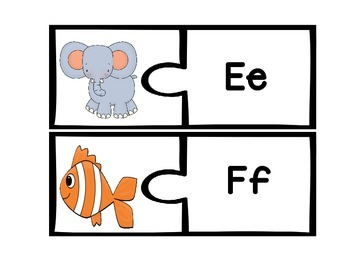 Beginning Sound Puzzles - Differentiated
