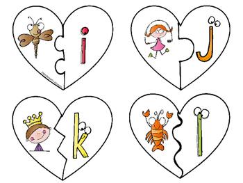 Beginning Sound Puzzles -Heart Shape