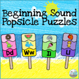 Beginning Sound Puzzles - Summer Popsicles