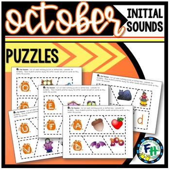 Beginning Sound Puzzle Activity (October)