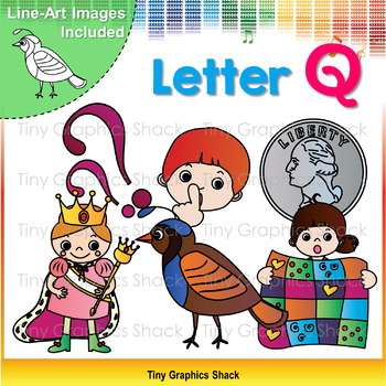 Beginning Sound Q Clip Art