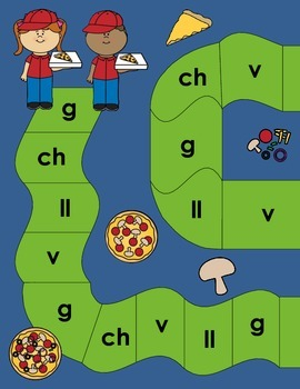 Beginning Sound Recognition: Initial Sound Board Game - GChVLl (Spanish)