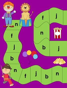 Beginning Sound Recognition: Initial Sound Board Game - NFJB (Spanish)