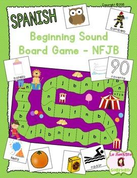 Beginning Sound Recognition: Initial Sound Board Game - NF